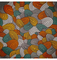 Seamless hand-drawn abstract pattern Endless vector image vector image