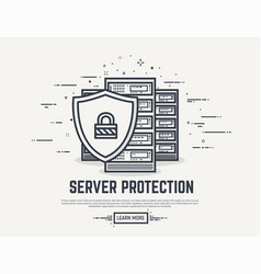 server security line vector image