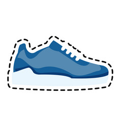 Single sneaker icon image vector