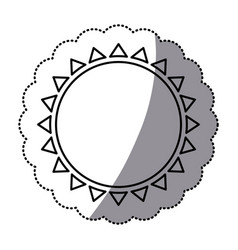 sticker monochrome with abstract sun icon vector image vector image
