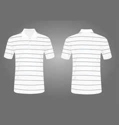 Striped white polo t shirt vector