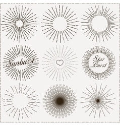Sunburst shapes vector