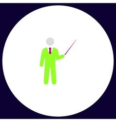 Teacher computer symbol vector image vector image