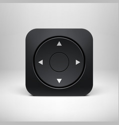 Technology Black Joystick App Icon vector image vector image