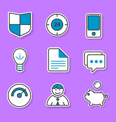 The set of exclusive icons in the paper style for vector