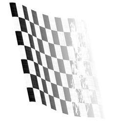 Waving chequered flag vector