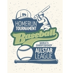 Baseball tournament print vector