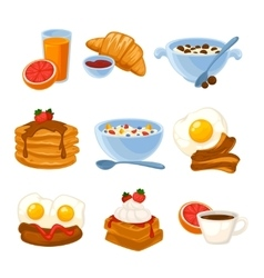 Breakfast food set vector