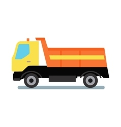 Delivery tipper truck vector