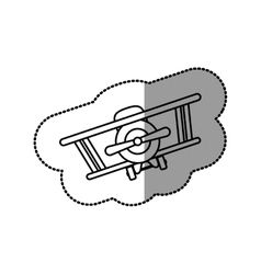 Isolated toy airplane design vector