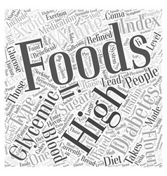 High glycemic foods word cloud concept vector