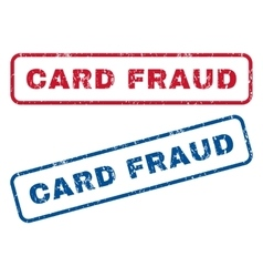 Card fraud rubber stamps vector