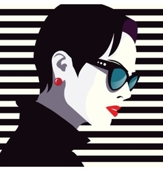 Fashion woman in style pop art vector