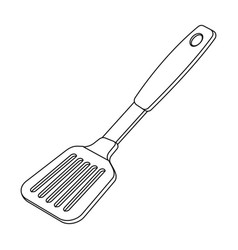 kitchen spatulabbq single icon in outline style vector image