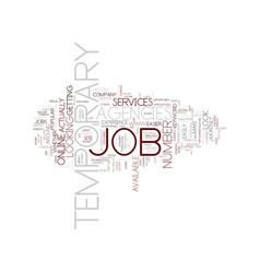 Temporary job agencies text background word cloud vector