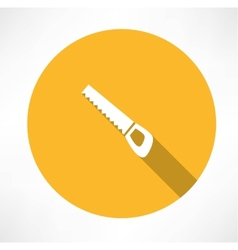 Wood saw icon vector