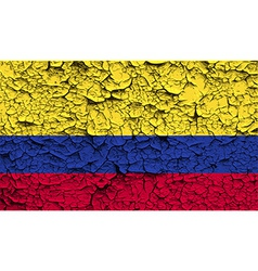 Flag of colombia with old texture vector