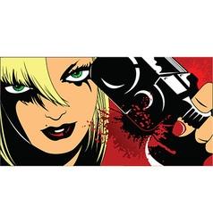 Femme fatal cartoon vector image