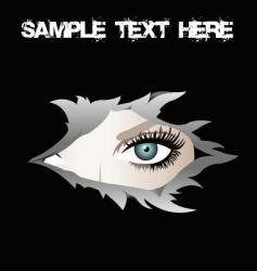torn eye vector image