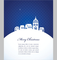 Christmas card poster vector
