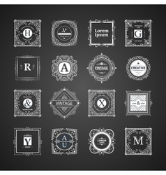 Monogram luxury template vector
