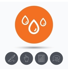 Water drop icon rainy weather sign vector