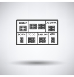 American football scoreboard icon vector