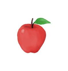 Apple watercolor vector