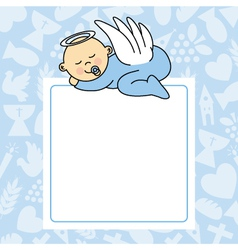 baby boy sleeping vector image vector image