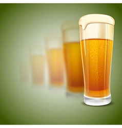 beer mugs vector image
