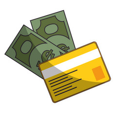 bills and credit card vector image vector image