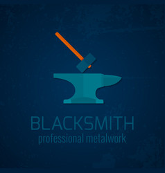 Blacksmith metalwork icon vector