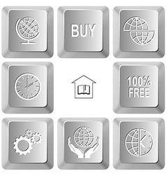 buy shift globe clock library 100 free gears vector image