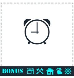 Clock icon flat vector