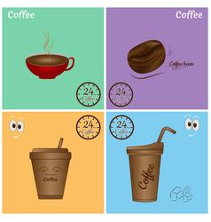 coffee icon set design vector image vector image