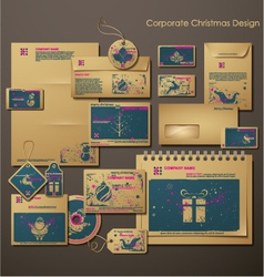 corporate christmas design vector image