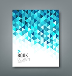 Cover report blue triangle geometric pattern vector