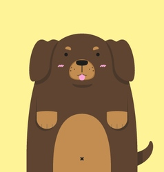 Cute big fat dachshund dog vector