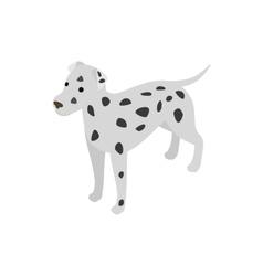 Dalmatians dog icon isometric 3d style vector image