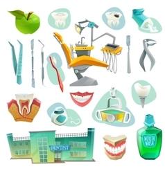 Dental office decorative icons set vector