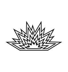 explosion black icon vector image vector image