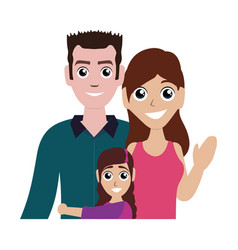 Face cartoon family vector