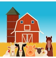 Farm banner with animals vector