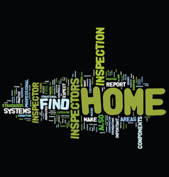 Find home inspector text background word cloud vector