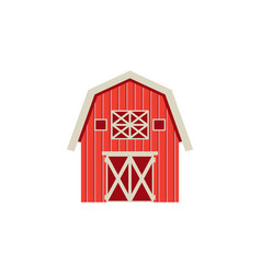 flat barn icon isolated on white background vector image vector image