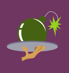 flat icon on theme humor bomb vector image