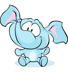 funny baby elephant sitting isolated on white vector image vector image