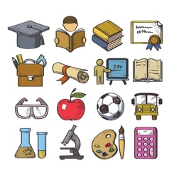 hand drawn education vector image vector image