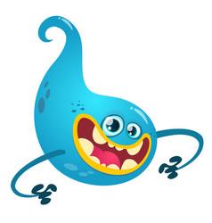 Happy cartoon ghost vector