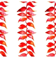 Heliconia watercolor pattern Tropical vector image vector image
